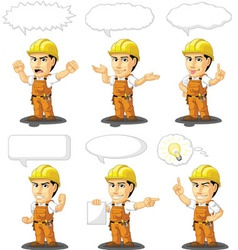 Industrial Construction Worker Mascot 17 vector image vector image