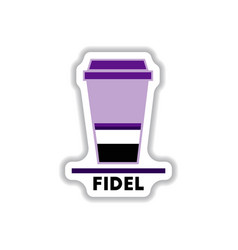 Label frames and badges icons coffee emblem fidel vector