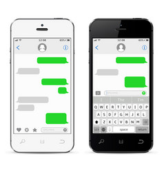 Mobile phones with sms chat vector