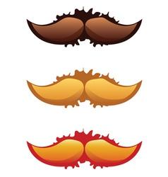 Mustaches set2 vector