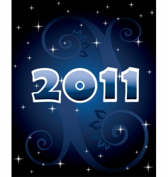numbers 2011 vector image vector image