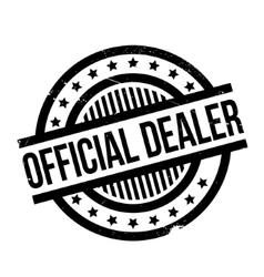 Official dealer rubber stamp vector