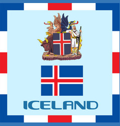 Official government ensigns of iceland vector