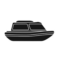 orange rescue boatboat to rescue the drowning vector image vector image