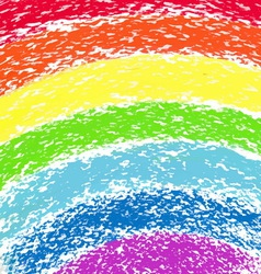 Pastel crayon painted rainbow image vector image vector image
