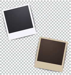 Photo frame on white a plaid background vector