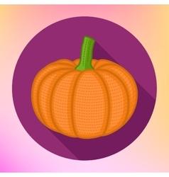 Pumpkin flat icon style vector