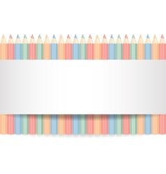 Row of color pencils vector