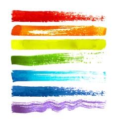set of colorful brush strokes vector image vector image