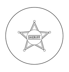 Sheriff icon outline singe western icon from the vector