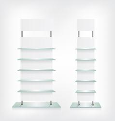 Shop glass shelves white vector image vector image