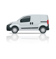 small van car isolated car template for car vector image vector image