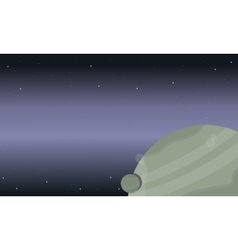 Space background with planet and vector