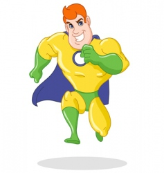Super hero running vector