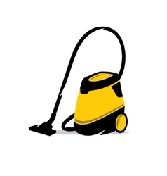 Vacuum cleaner cartoon vector