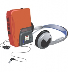 Walkman vector image vector image