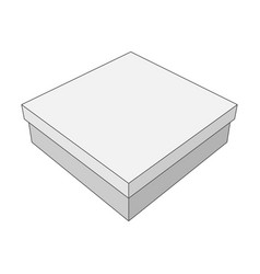 white box with place for your label vector image vector image