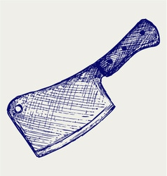 Meat cleaver knife vector