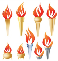Torch set vector