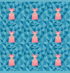 low poly geometric pattern vector image