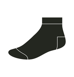 Black sock template vector