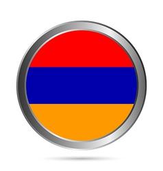 Armenia flag button vector