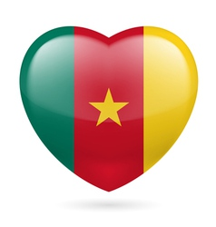 Heart icon of Cameroon vector image