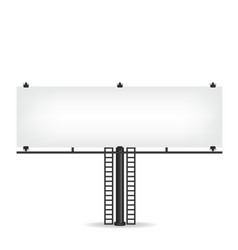 Blank black billboard vector