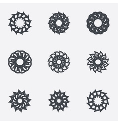 Circle geometric ornaments spirographs set vector
