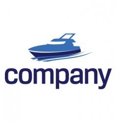 Yacht logo luxury lifestyle vector