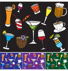 Some kinds of drinks and coctails vector