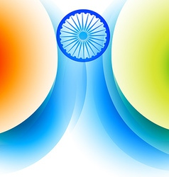 Stylish indian flag background vector