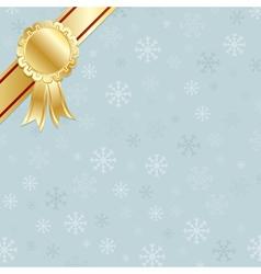 gold rosette decoration vector image