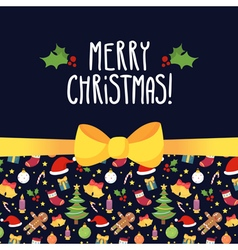 Christmas greeting card design template with vector image