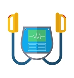 Defibrillator unit isolated medical icon vector