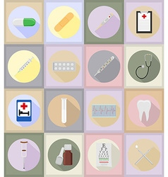 Medical flat icons 20 vector
