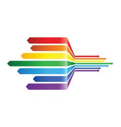 abstract rainbow arrow pattern design vector image