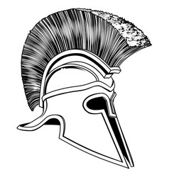 black and white trojan helmet vector image vector image