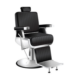 Black barber chair vector
