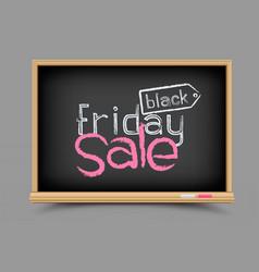 blackboard black friday sale vector image