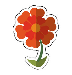 Cartoon flower ornament natural vector