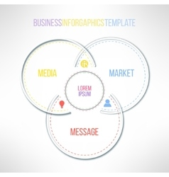 circles infographics template Message vector image vector image