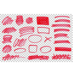 color highlight stripes marks brushes vector image
