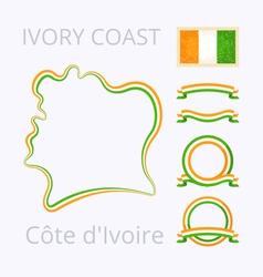 Colors of cote divoire ivory coast vector