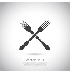 Crossed forks - vector