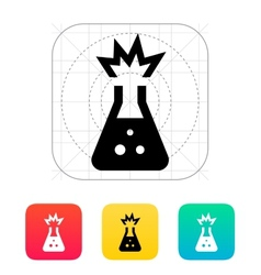 Explosive substance icon vector