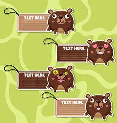 Four cute cartoon Bears stickers vector image