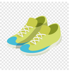 green sneakers isometric icon vector image vector image