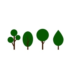 GrenTree icons set vector image vector image