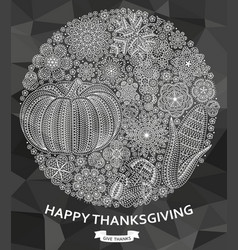 happy thanksgiving background with creative vector image vector image